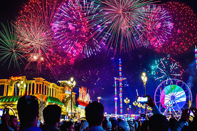 Fireworks at global village