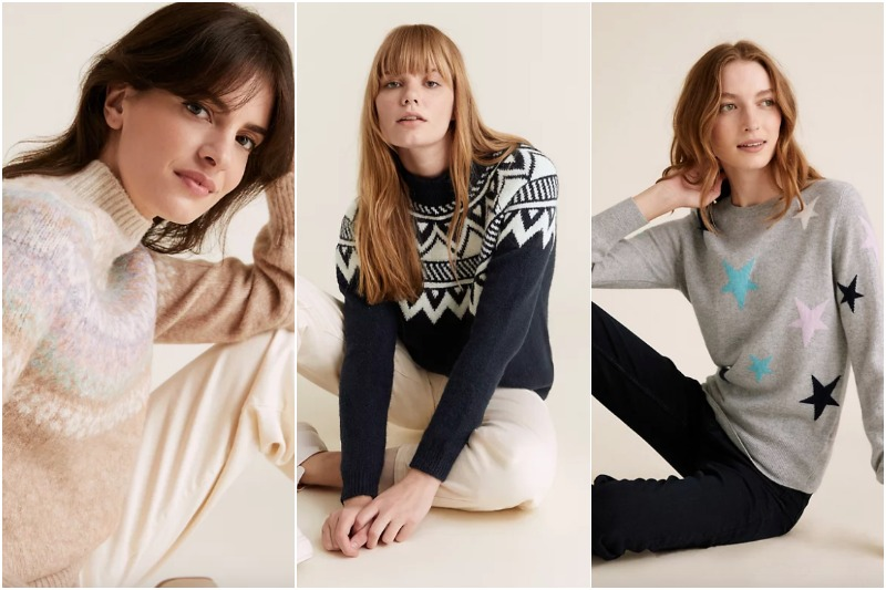 M&S Christmas sweaters for women