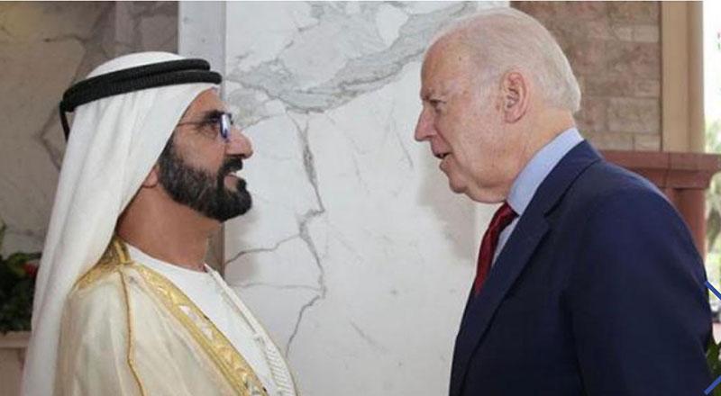 sheikh mohammed and joe biden