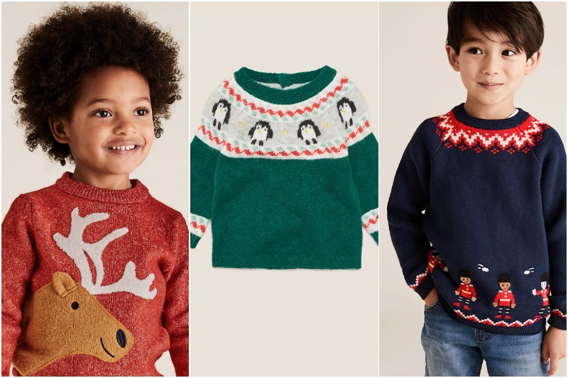 m&s christmas jumpers for kids