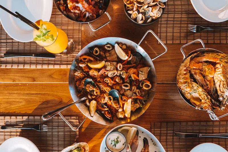 seafood and sangria