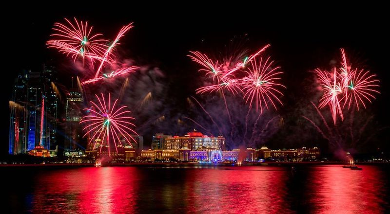 Abu Dhabi fireworks UAE National Day 2020