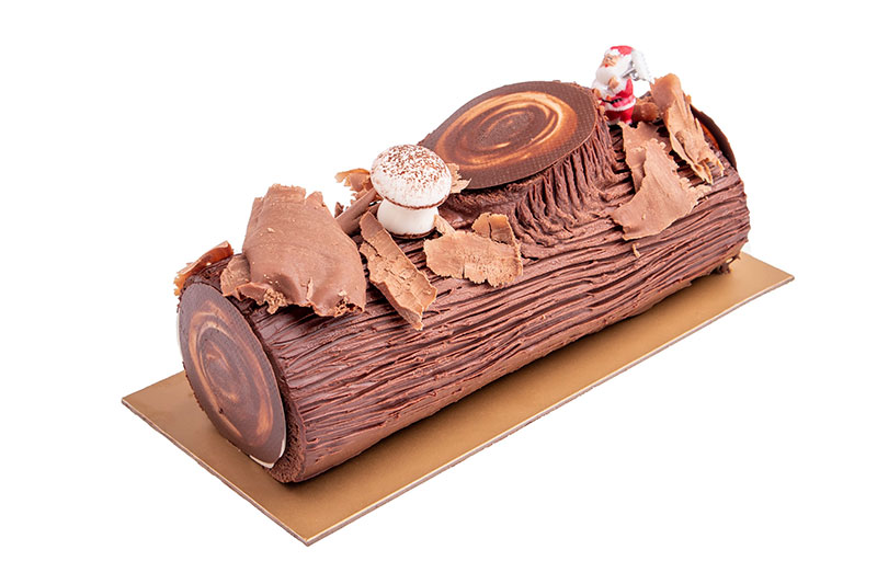 Black Coffee by Cafe Younes Chocolate Yule log