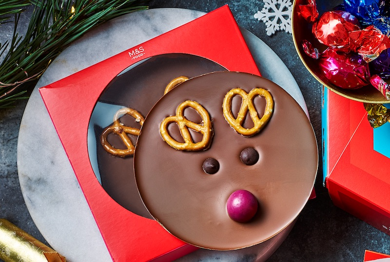 M&S - Reindeer Jumbo Button - AED 35