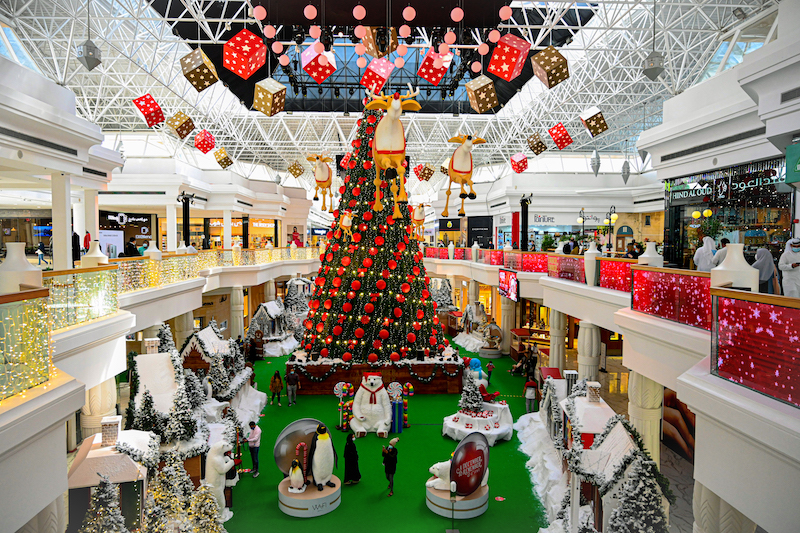meet santa at Wafi Mall