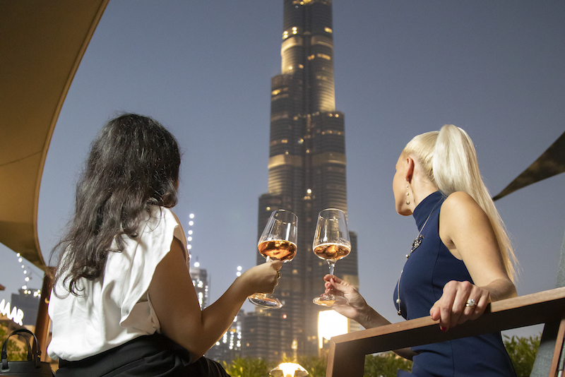 burj khalifa views new years eve dubai 99 sushi