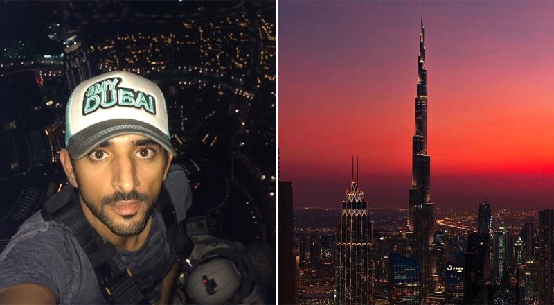 faz climbs top burj khalifa dubai