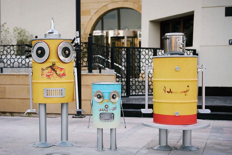 Jumeira bus station art installations