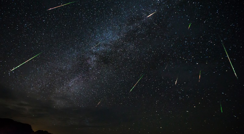 meteor shower in dubai in december