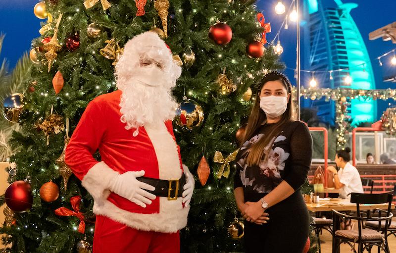 publique meet santa in Dubai