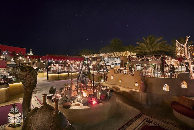 Desert Dining - Al Hadheerah - Firepit and buffet