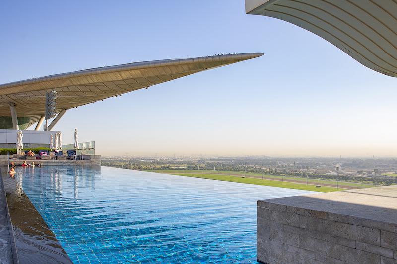 the meydan hotel rooftop pool