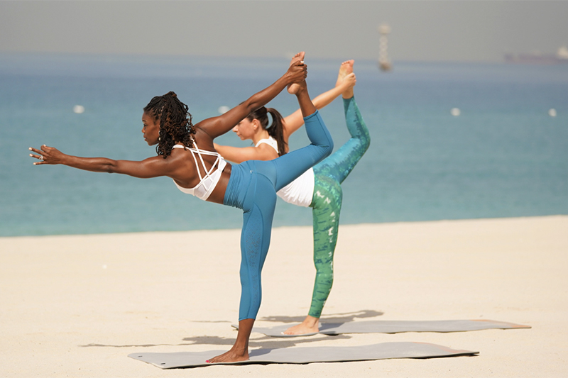 yoga on the beach article