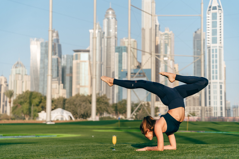 You can now do yoga on the Topgolf Dubai outfield - What's On