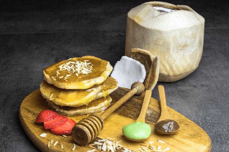 Fuchsia pancakes