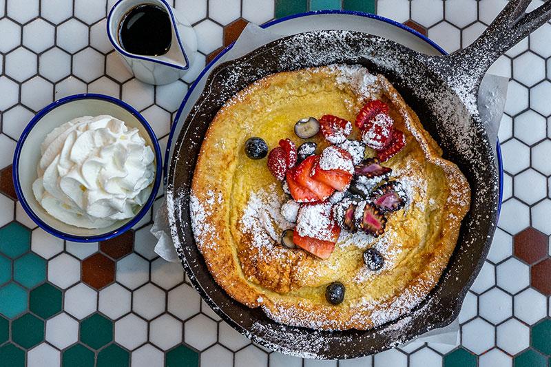 london diary cafe pancake