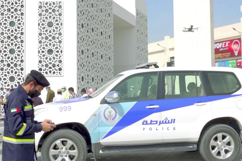 sharjah police drones covid-19