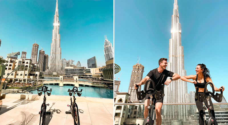 storm cycling spin class burj khalifa