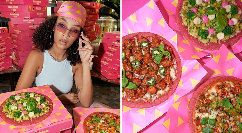 vibe uae pink pizza