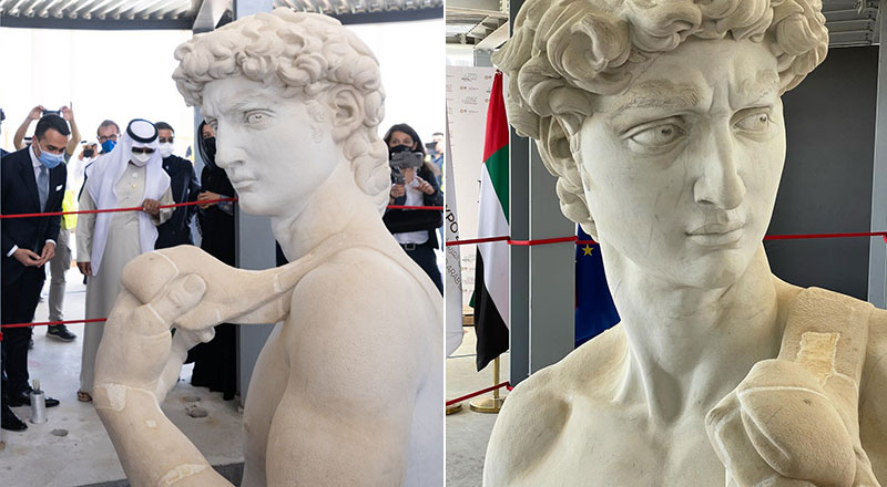 3D replica David