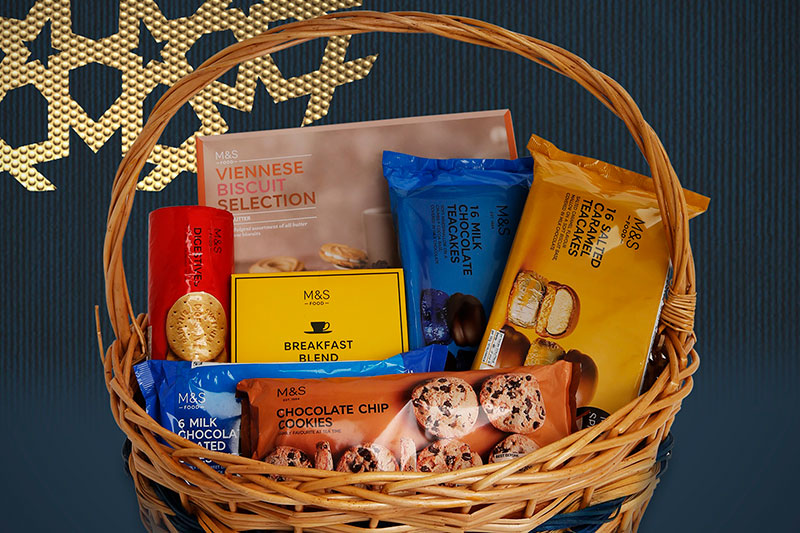 M and S Biscuit basket