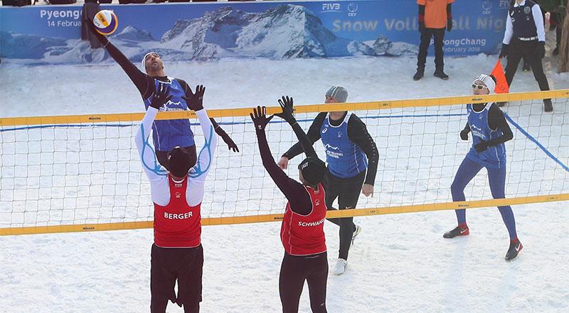 snow volleyball ski dubai