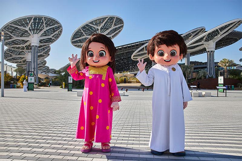 expo 2020 Mascots