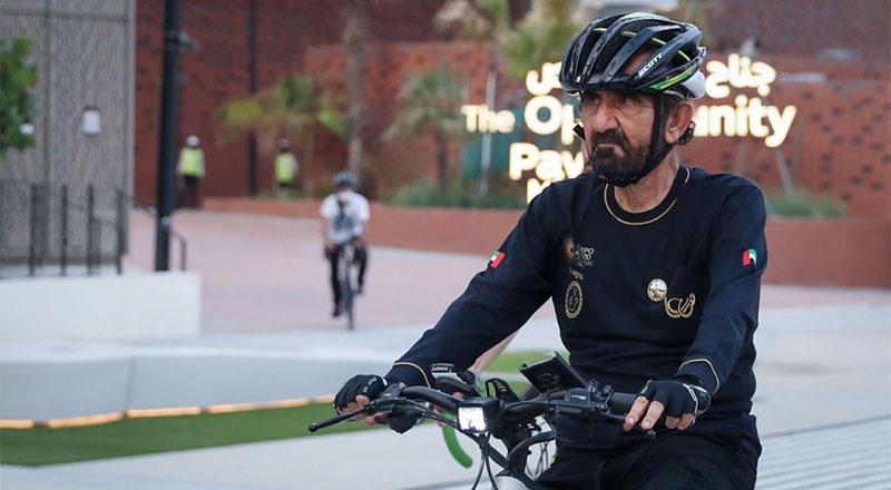 Sheikh Mohammed bike tour expo 2020