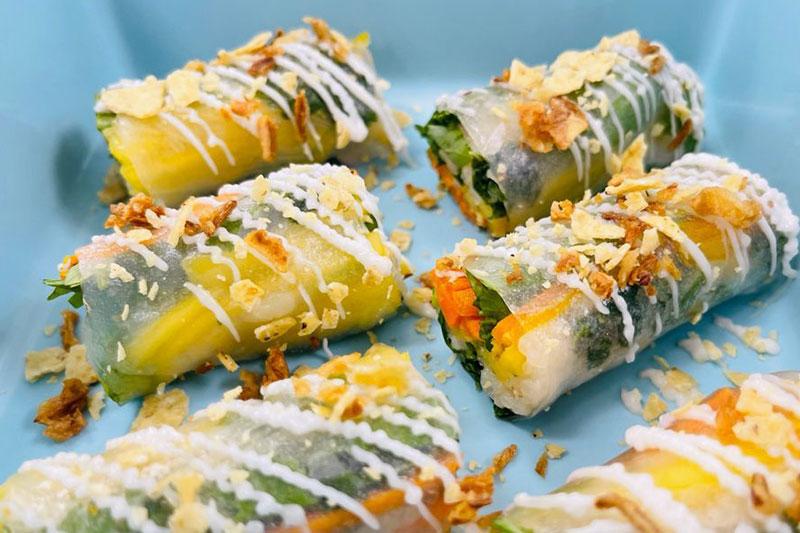 vegan dishes at Panache